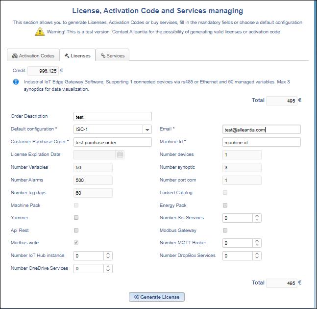 Licenses_generator